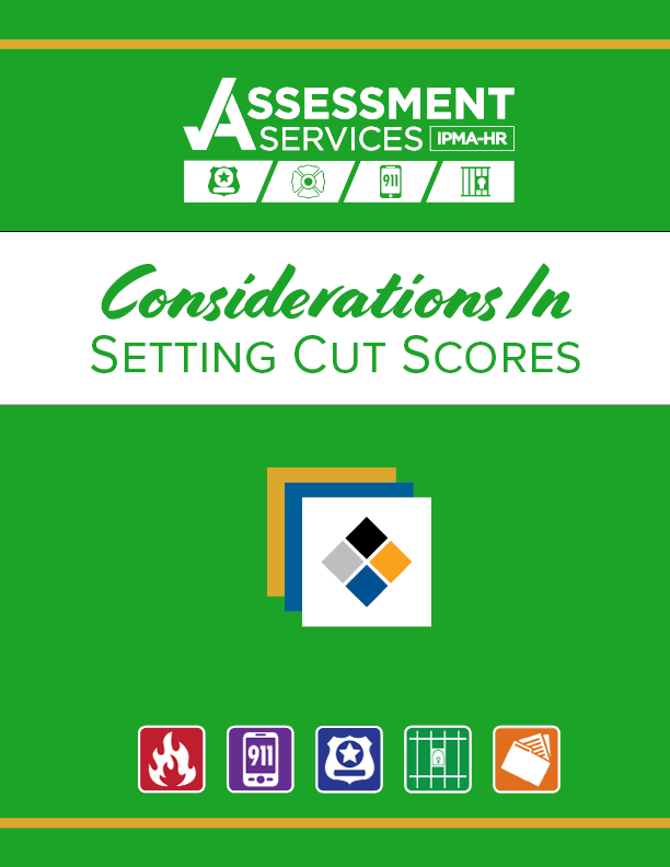 Considerations in Setting Cut Scores Cover