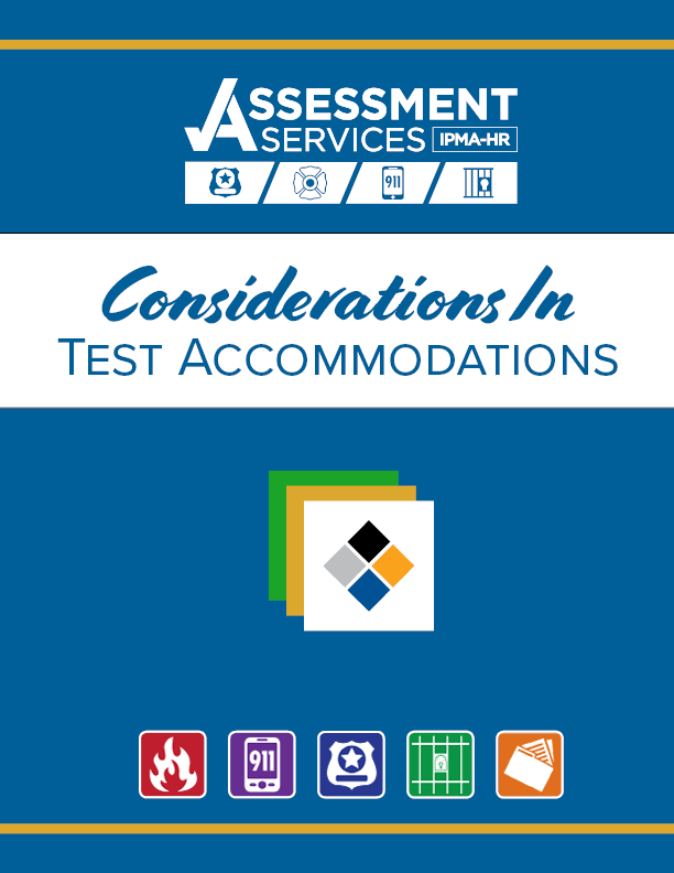 Cover of Considerations in Test Accommodations